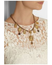 Dolce & Gabbana | Red Multi-Medal And Cross Necklace | Lyst