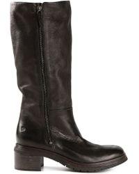 Marsèll - Black Ridged Sole Knee Boots - Lyst