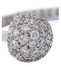 Delfina Delettrez - Metallic Diamond Pavé Pearl 'piercing' Earring - Lyst