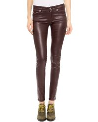 BLK DNM Coated Jeans 26 - Empire Red