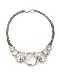 Alexis Bittar - Multicolor Silver Gaze Marquis Cluster Bib Necklace You Might Also Like - Lyst