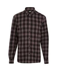 987dd91e751b34 River Island Black Wesc Check Flannel Shirt in Black for Men - Lyst