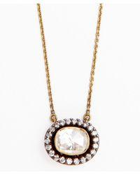 Amrapali - Metallic Diamond And Gold 'Soul Bazar' Oval Pendant Necklace - Lyst