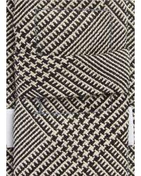Thom Browne Gray Glen Plaid Wool Tie for men
