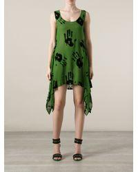 jean paul gaultier hand print dress in green lyst