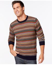 Barbour | Blue Easton Fair Isle Crew-neck Sweater for Men | Lyst