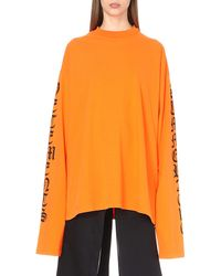 Vetements Orange Oversized Cotton-jersey Jumper