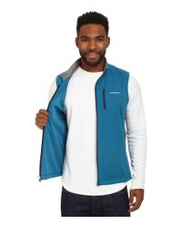 Patagonia | White Wind Shield Hybrid Softshell Vest for Men | Lyst
