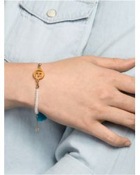 BaubleBar - Blue Alpha Tassel Bracelet - Lyst