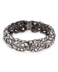Alexis Bittar | Metallic Miss Havisham Liquid Crystal Broken Glass Bangle Bracelet/Gunmetal | Lyst