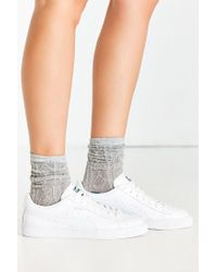 PUMA - White Patent Sneaker - Lyst