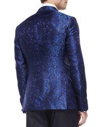 Etro - Blue Paisley Jacquard Evening Jacket for Men - Lyst