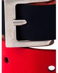 Alexander McQueen - Red Wrap Around Skull Bracelet - Lyst