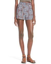 Lush | Blue Flowy Print Shorts | Lyst