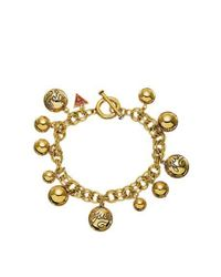 Guess | Metallic Gold Bauble Bracelet | Lyst