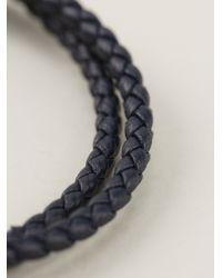 Ferragamo | Blue Woven Gancio Bracelet | Lyst