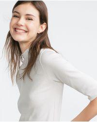 Zara | Natural Basic Top | Lyst