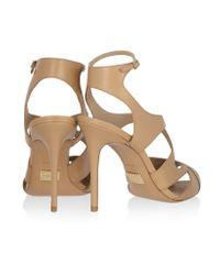Michael Kors Natural Cordelia Leather Sandals