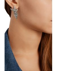 Lulu Frost | Metallic Aviary Silver-Plated Swarovski Crystal Earrings | Lyst