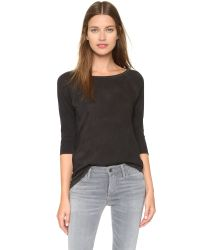 Cotton Citizen - The Raw Edge Raglan Shirt - Vintage Black - Lyst