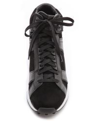 3.1 Phillip Lim Trance High Top Sneakers - Black