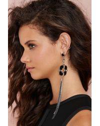 Nasty Gal - Metallic Leave Me Hanging Tassel Earrings - Lyst