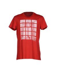Calvin Klein Jeans - Red T-shirt for Men - Lyst