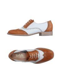 F.lli Bruglia - Brown Lace-up Shoes - Lyst