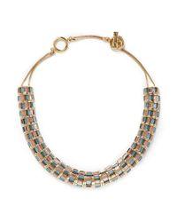 St. John Green 'rondelle' Swarovski Crystal Necklace