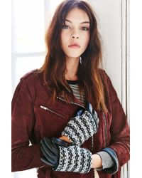 Urban Outfitters Multicolor Marled Overlay Leather Texting Glove