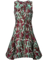 KENZO | Green 'torn Flowers' Dress | Lyst