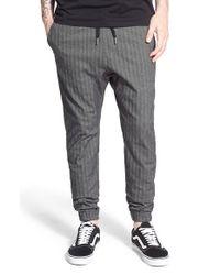 Zanerobe | Gray 'sureshot' Herringbone Jogger Pants for Men | Lyst