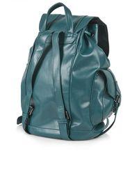 TOPSHOP Blue Clean Pocket Backpack  Teal