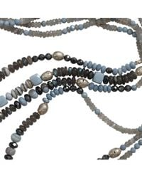 Royal Nomad Jewelry - Blue Three Strand Opal And Silver Bead Necklace for Men - Lyst