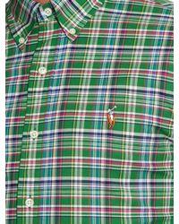 Polo Ralph Lauren | Green Slim-fit Check-print Shirt for Men | Lyst