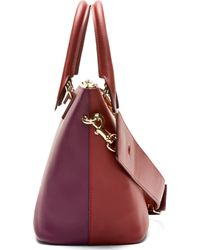 Chloé Red Burgundy and Purple Leather Baylee Small Shoulder Bag