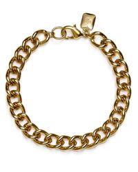 Pink Pony | Metallic Lauren Curb Chain Bracelet | Lyst