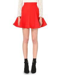 Maje | Red Jamila Jacquard Skirt | Lyst