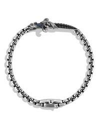 David Yurman Metallic Waves Dagger Bracelet With Black Diamonds for men