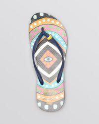 Havaianas Blue + Mara Hoffman Flip Flops - Printed