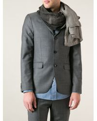 Lost & Found - Gray Oversized Scarf for Men - Lyst