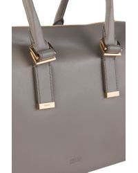 HUGO - Gray Leather Handbag: 'blumie' - Lyst