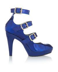 Vivienne Westwood Blue Patent-leather Platform Pumps