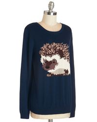 Sugarhill - Blue Hedgehogs And Kisses Sweater - Lyst