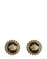 Juicy Couture | Metallic Enamel Status Coin Stud Earring | Lyst