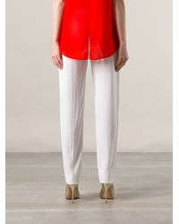 Vionnet White Tapered Trousers