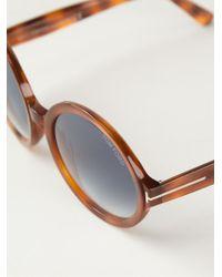 Tom Ford Brown 'juliet' Sunglasses