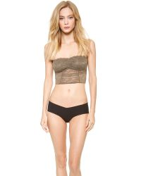 Free People Natural Galloon Lace Crop Bra - Military