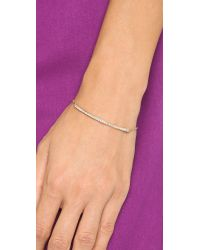 Rebecca Minkoff - Metallic Pave Bar Bracelet - Gold/clear - Lyst