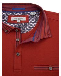 Ted Baker Red Nugrain Short Sleeve Polo Shirt for men